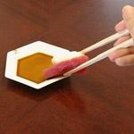 箸で食べる場合