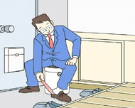 靴を履く時の椅子として
